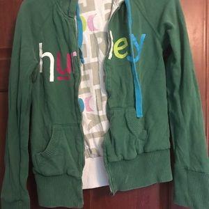 hurley. reversible. hoodie. broken zipper.